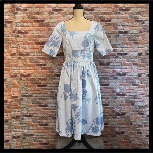 Eshakti Floral Striped Dress